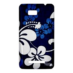 Blue Hibiscus HTC One SU T528W Hardshell Case