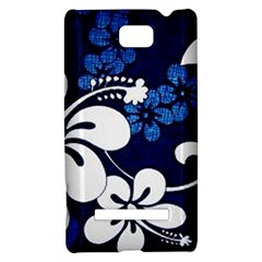 Blue Hibiscus HTC 8S Hardshell Case