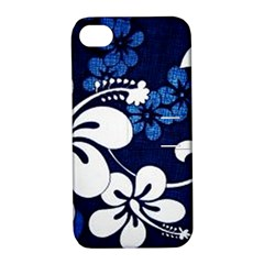 Blue Hibiscus Apple iPhone 4/4S Hardshell Case with Stand