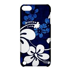 Blue Hibiscus Apple iPod Touch 5 Hardshell Case with Stand