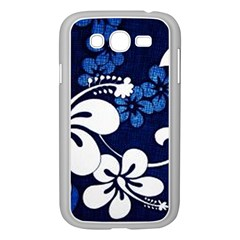Blue Hibiscus Samsung Galaxy Grand DUOS I9082 Case (White)