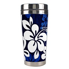 Blue Hibiscus Stainless Steel Travel Tumblers