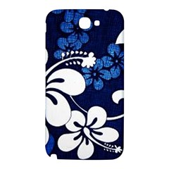 Blue Hibiscus Samsung Note 2 N7100 Hardshell Back Case