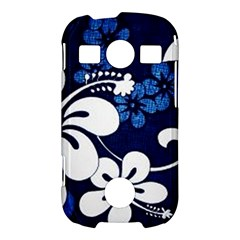 Blue Hibiscus Samsung Galaxy S7710 Xcover 2 Hardshell Case