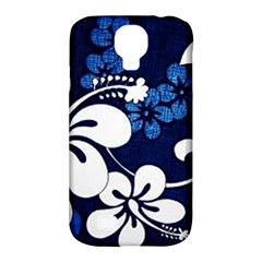 Blue Hibiscus Samsung Galaxy S4 Classic Hardshell Case (PC+Silicone)