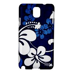 Blue Hibiscus Samsung Galaxy Note 3 N9005 Hardshell Case