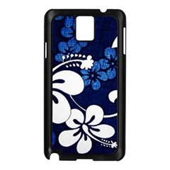 Blue Hibiscus Samsung Galaxy Note 3 N9005 Case (Black)