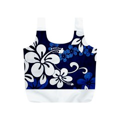 Blue Hibiscus Full Print Recycle Bags (S)