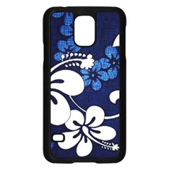 Blue Hibiscus Samsung Galaxy S5 Case (Black)