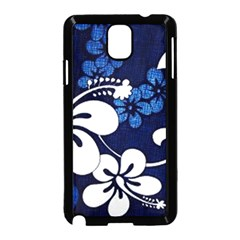 Blue Hibiscus Samsung Galaxy Note 3 Neo Hardshell Case (Black)