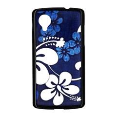 Blue Hibiscus Nexus 5 Case (Black)
