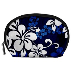 Blue Hibiscus Accessory Pouches (Large)