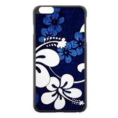 Blue Hibiscus Apple iPhone 6 Plus/6S Plus Black Enamel Case
