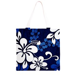 Blue Hibiscus Grocery Light Tote Bag