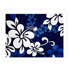 Blue Hibiscus Double Sided Flano Blanket (Medium)