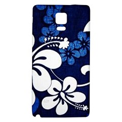 Blue Hibiscus Galaxy Note 4 Back Case