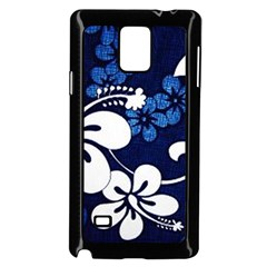 Blue Hibiscus Samsung Galaxy Note 4 Case (Black)