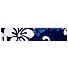 Blue Hibiscus Flano Scarf (Small)