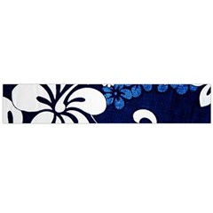 Blue Hibiscus Flano Scarf (Large)