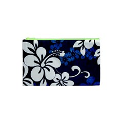 Blue Hibiscus Cosmetic Bag (XS)