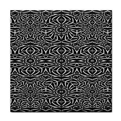 Black and White Tribal Pattern Tile Coasters
