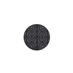 Black and White Tribal Pattern 1  Mini Buttons