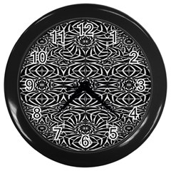 Black and White Tribal Pattern Wall Clocks (Black)