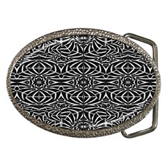 Black and White Tribal Pattern Belt Buckles