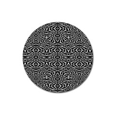 Black and White Tribal Pattern Magnet 3  (Round)