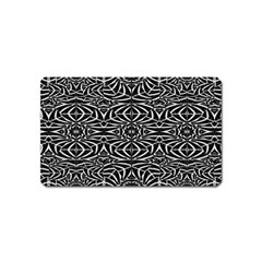 Black and White Tribal Pattern Magnet (Name Card)