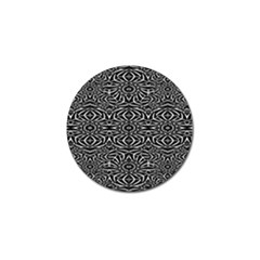 Black and White Tribal Pattern Golf Ball Marker (4 pack)