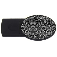 Black and White Tribal Pattern USB Flash Drive Oval (2 GB)