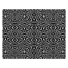 Black and White Tribal Pattern Rectangular Jigsaw Puzzl