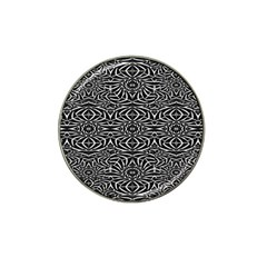 Black and White Tribal Pattern Hat Clip Ball Marker