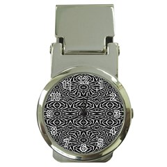 Black and White Tribal Pattern Money Clip Watches