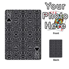 Black and White Tribal Pattern Playing Cards 54 Designs