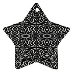 Black and White Tribal Pattern Star Ornament (Two Sides)