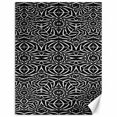 Black and White Tribal Pattern Canvas 12  x 16