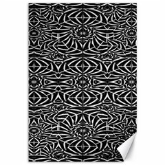 Black and White Tribal Pattern Canvas 12  x 18