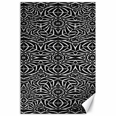 Black and White Tribal Pattern Canvas 24  x 36