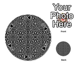 Black and White Tribal Pattern Playing Cards 54 (Round)