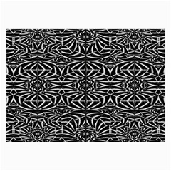 Black and White Tribal Pattern Large Glasses Cloth (2-Side)