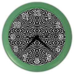 Black and White Tribal Pattern Color Wall Clocks