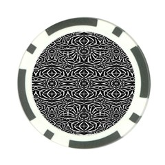 Black and White Tribal Pattern Poker Chip Card Guards