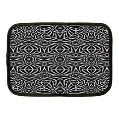 Black and White Tribal Pattern Netbook Case (Medium)