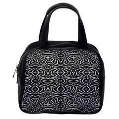 Black and White Tribal Pattern Classic Handbags (One Side)