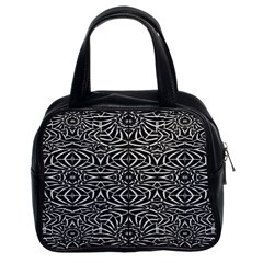 Black and White Tribal Pattern Classic Handbags (2 Sides)