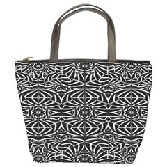 Black and White Tribal Pattern Bucket Bags