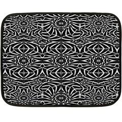 Black and White Tribal Pattern Fleece Blanket (Mini)