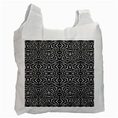 Black and White Tribal Pattern Recycle Bag (Two Side)